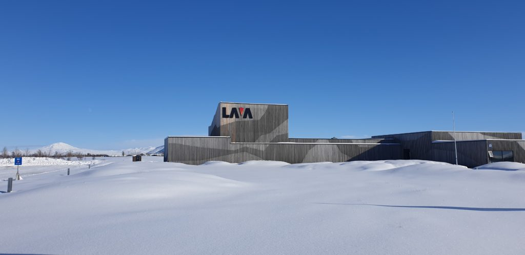 LAVA Centre and Hekla in their winter gowns